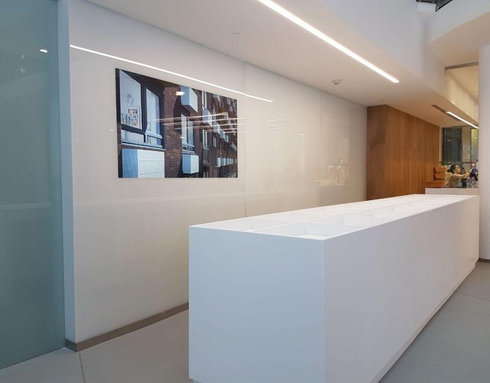 Медиа стены по индивидуальному дизайну для офиса