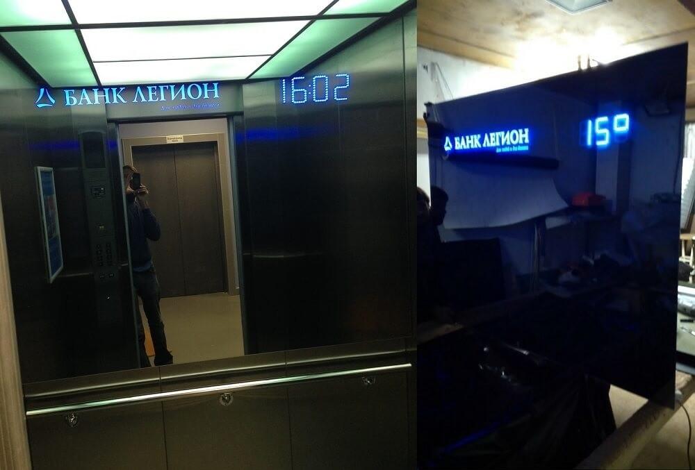 Зеркальные лифтовые кабины