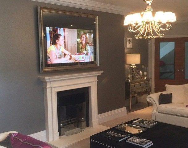 Вы все еще вешаете обычные телевизоры на стену? Зачем??? 😳 Телевизор в стекле или зеркале по индивидуальному дизайну - это реальность! 😉 Реализуем проект любой сложности