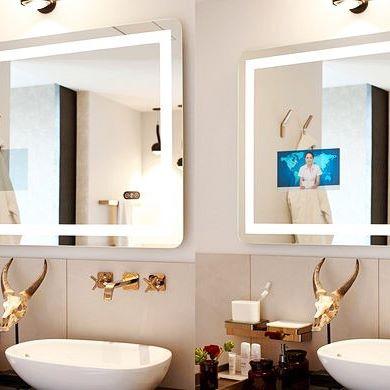 Эффект зеркала Burg&Glass в выключенном и включенном состоянии