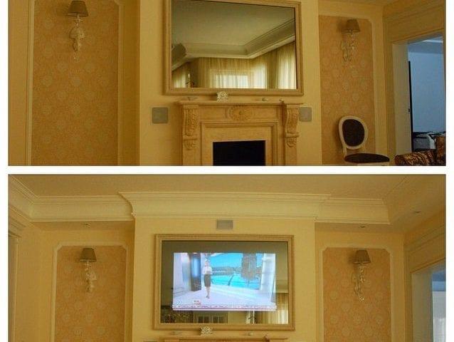 Телевизор или традиционно зеркало над камином?! 😏 Современность - это телевизор/зеркало! ☝🏻️ Мультимедия в стекле/зеркале IMAGE- Ваш выбор