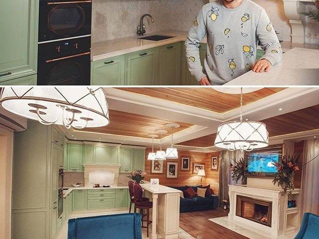 """Счастливым обладателем Burg&Glass 48 дюйма в """"волшебном зеркале"""" является Сергей Лазарев @lazarevsergey  Телевизор B&G расположен над камином, оформлен позолоченным багетом и в выключенном состоянии это просто красивое зеркало"""