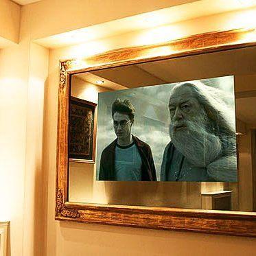 """Часто наши клиенты заказывают такое решение - телевизор BURG&GLASS в """"волшебном зеркале"""" оформленный красивым багетом"""