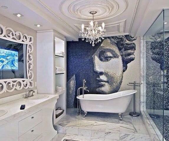 Очень необычная и стильная ванная комната