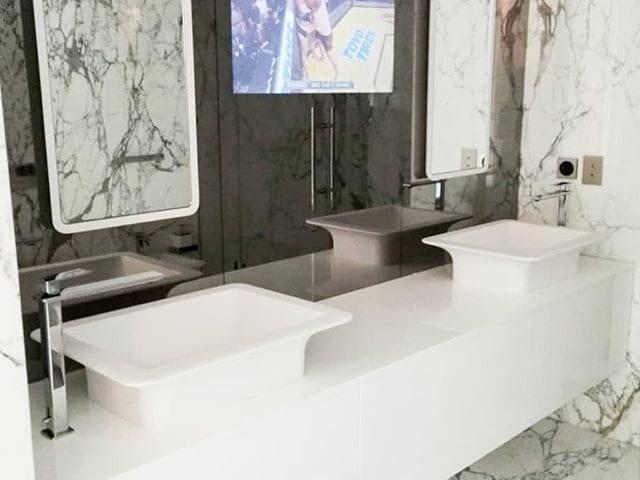 Очень красивая ванная комната в Москве