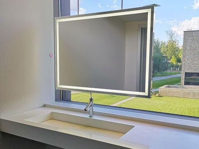 Парящее зеркало-ТВ #BurgGlass
