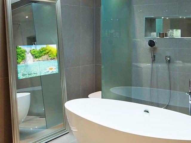 встроенный телевизор для ванных комнат