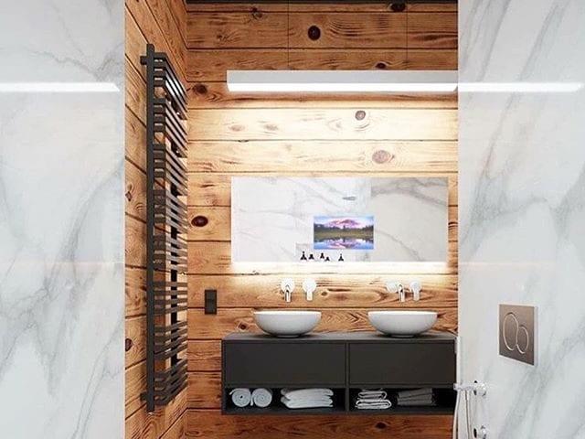 зеркальные влагостойкие телевизоры в ванную