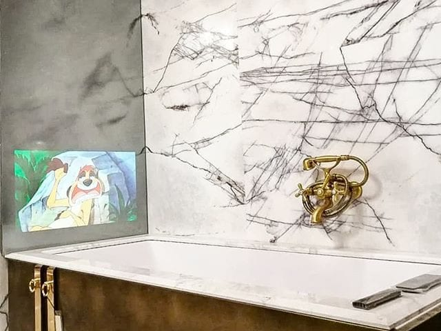 Зеркальный телевизор #BurgGlass 32 дюйма  Сверх тонкая, проф