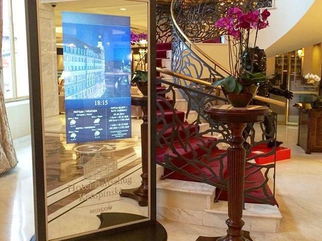 Зеркальная стойка в отеле @hotelbaltschug  Стойка была изготовлена индивидуально под отель