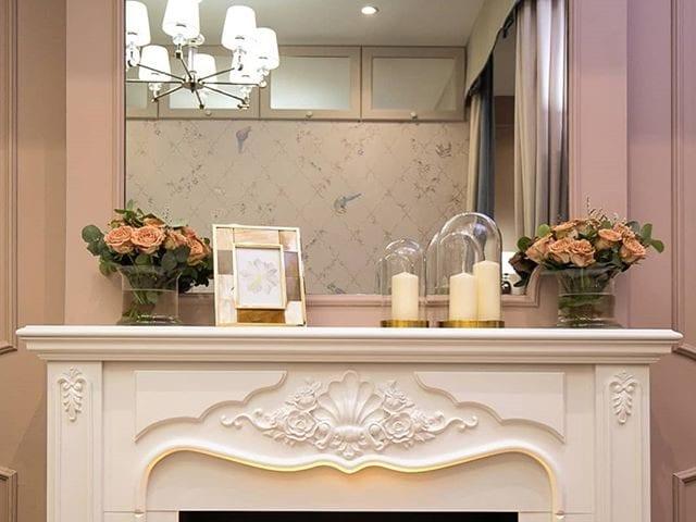 Зеркальный телевизор Burg&Glass для прекрасной @legkostupovavalentina  Очень красивое решение над 3D камином