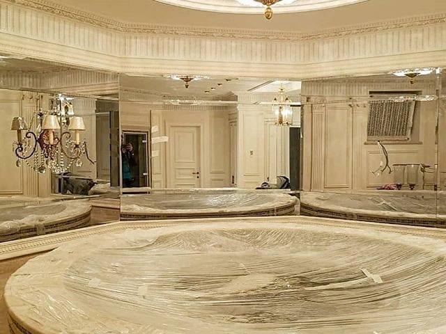 #ЗеркальныйТелевизор Burg&Glass 49 дюйма в частном доме  На самом деле это не просто зеркальный телевизор