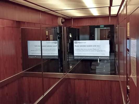 Дизайнерский телевизор встроенный в лифте